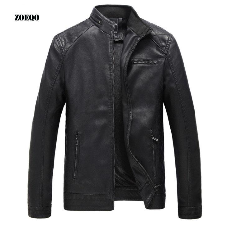 [해외]ZOEQO 가죽 자켓 남자 패션 가을 오토바이 PU 가죽 남성 겨울 자켓 겉옷 Faux Leather Coat PU Jacket for Men/ZOEQO Leather Jacket Men Fashion Autumn Motorcycle PU Leather Male