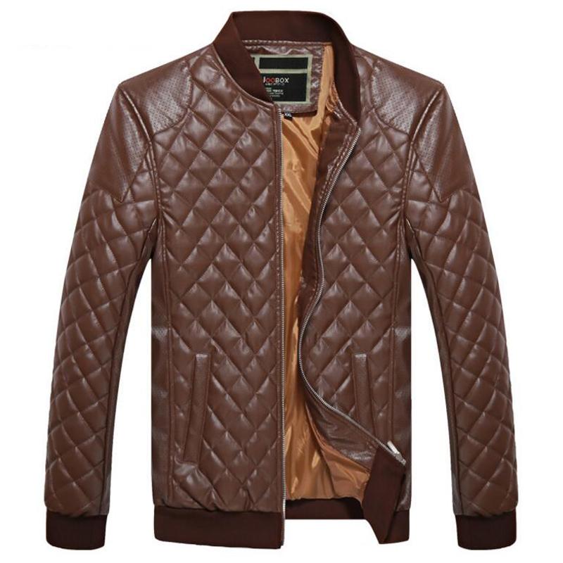 [해외]가죽 자켓 남성 캐주얼 3D 다이아몬드 스탠드 칼라 봄 가을 폭탄 자켓 chaquetas hombre 남성용 스포츠 용 재킷 코트 의류/Leather jacket men casual 3d diamond stand collar spring autumn bomber