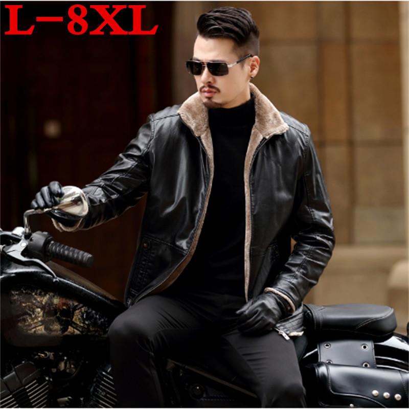 [해외]뉴 플러스 사이즈 8XL 7XL 6XL 5XL 따뜻한 겨울 양가죽 남성 가죽 자켓 남성 레저 모피 코트 남성 브랜드 럭셔리 리얼 가죽 코트/New plus size 8XL 7XL 6XL 5XL Warm Winter Sheepskin Men&s Leather ja