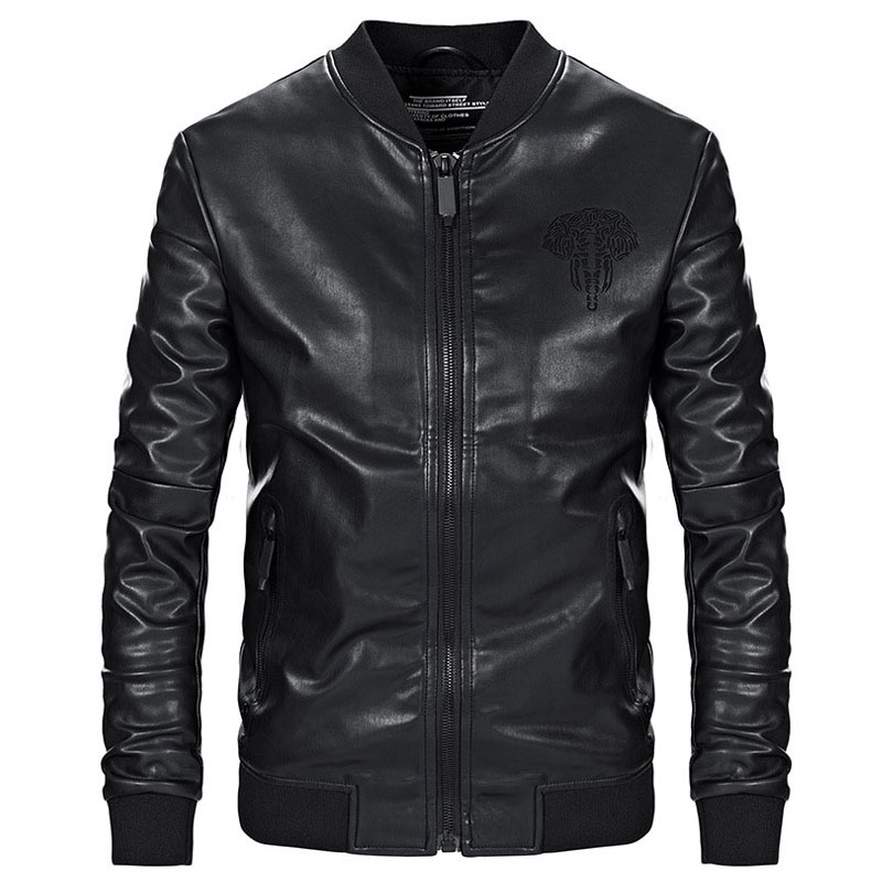 [해외]핫 재킷 남자 슬림 피트 캐주얼 아웃웨어 재킷 가을 PU의 가짜 가죽 자켓 남자 jaqueta masculina couro ping/Hot Jackets Men Slim Fit Casual Outwear Jacket Sping Autumn PU Faux Leat
