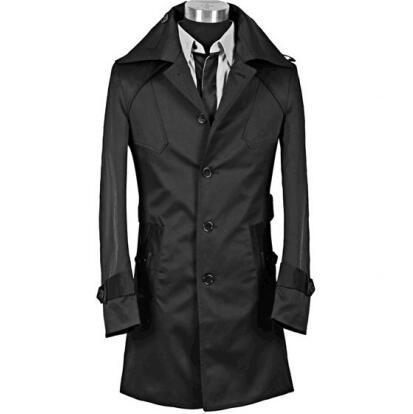 [해외]스파이크 패션 새로운 디자이너 날씬한 섹시한 트렌치 코트 남성 긴 Retail 망 옷 비즈니스 겉옷 casaco masculino/Spike  Fashion new designer slim sexy trench coat men overcoat long sleev