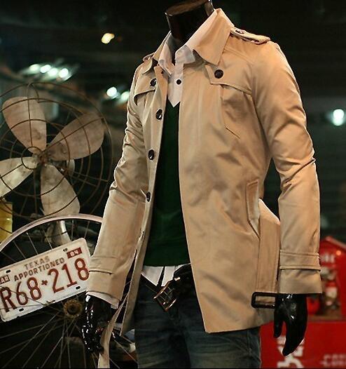 [해외]저렴한 패션 새로운 디자이너 날씬한 섹시한 트렌치 코트 남자는 긴 Retail 망 의류 비즈니스 겉옷 casaco masculino를 overcoat/Cheap  Fashion new designer slim sexy trench coat men overcoat