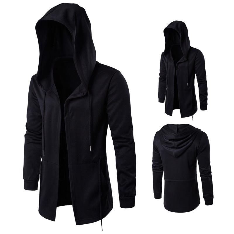 [해외]2018 가을 트렌치 윈드 브레이커 긴 망토 코트 마녀 망토 두건 자켓/2018 Autumn Trench Men Windbreaker Long Cloak Coat Witch Cloak Hooded Jacket