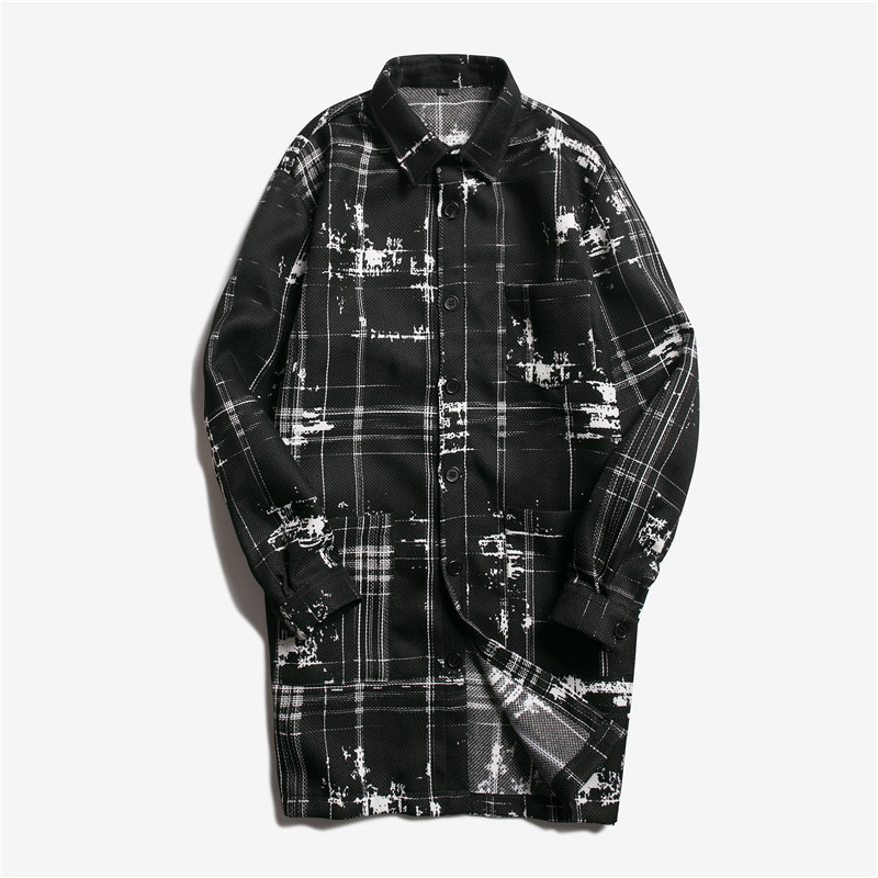 [해외]캐주얼 남성 & s 코트 남성 & s 긴 윈드 파킹 남성 & s 셔츠 긴팔/Casual Men&s coat Men&s long windbreaker Men&s shirt Long sleeve