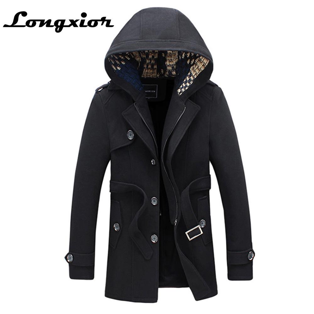 [해외]플러스 사이즈 5XL 겨울 트렌치 남성 긴 캐주얼 후드 겨울 자켓 남자 분리형 모자 남성 트렌치 겉옷 JM19/Plus Size 5XL Winter Trench Men Long Casual Hooded Winter Jacket Men  Detachable Hat