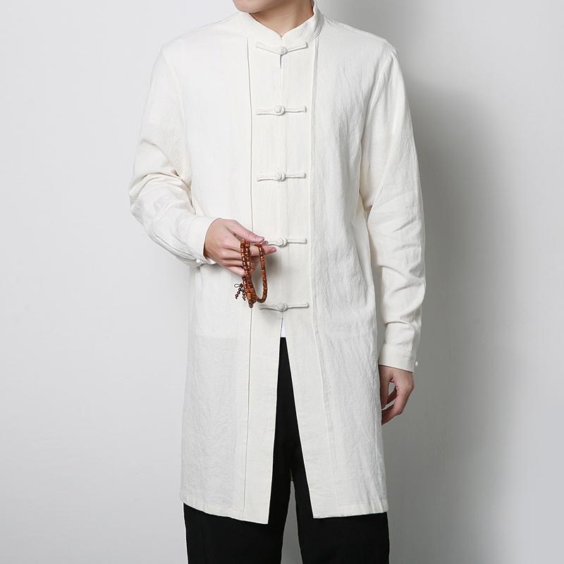 [해외]가을  스타일 레트로 남자 & 긴 쟈켓 패션 남자 쿵푸 의류 슬림 남자 트렌치 고귀하고 편안한 S M L XL 2XL 3XL/Autumn Chinese Style Retro Men&s Long Jacket Fashion Men Kung Fu Clothin