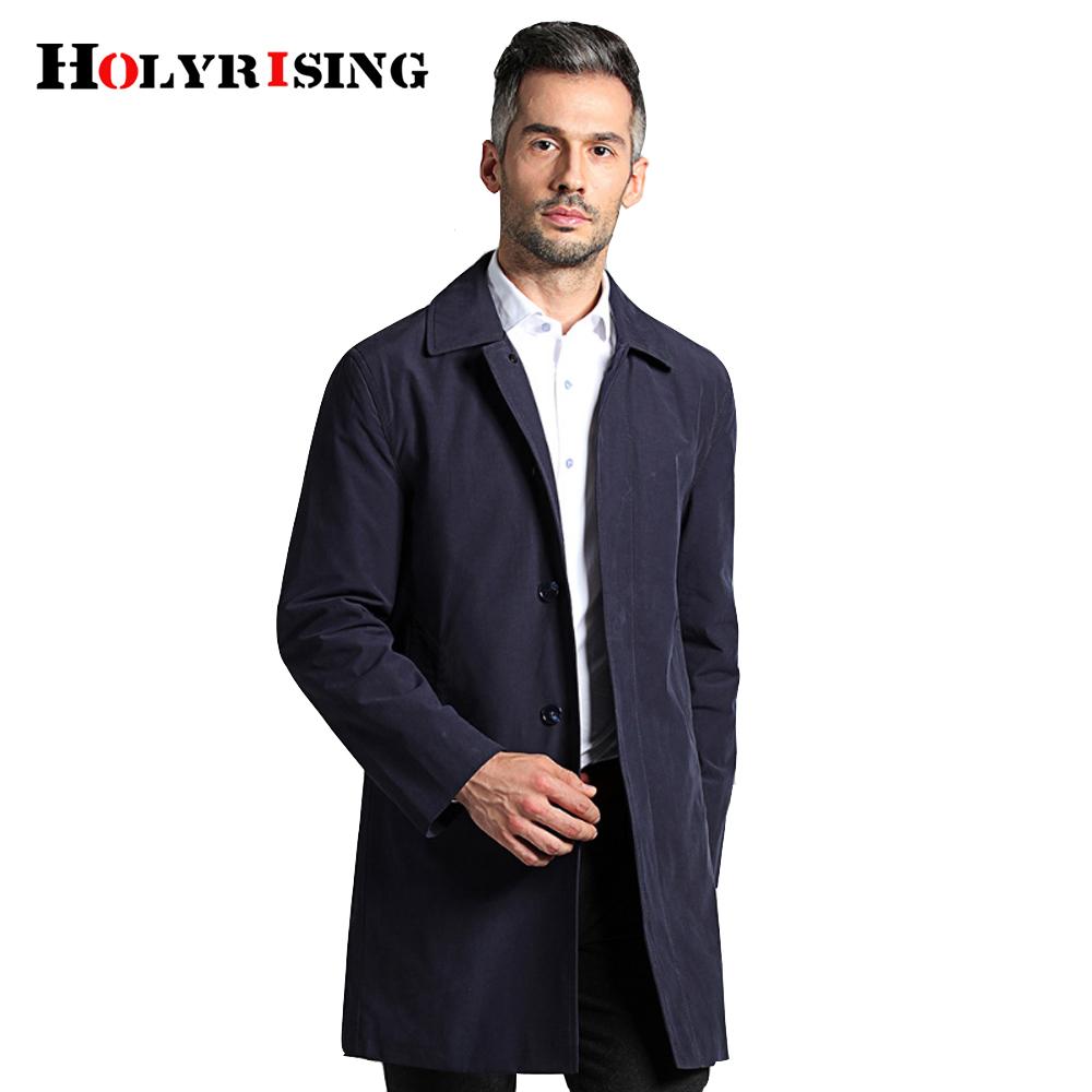 [해외]Holyrising men 트렌치 코트 브레스트 자켓 코트 남성 의류 긴 자켓 & amp; 코트 스타일 오버 코트 M-4XL 크기 18130/Holyrising men Trench Coat Breasted jacket Coat  Mens Clothing