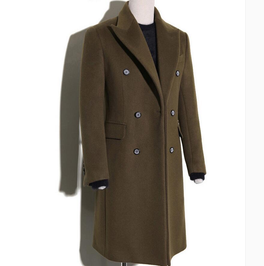 [해외]라거 사이즈 남성 의류 무료 쇼핑 한국어 슬림 울 긴 섹션 옷깃 자켓 코트 / S - 4XL/lager size men clothing Free shopping Korean Slim wool long section lapel jacket coat / S-4XL