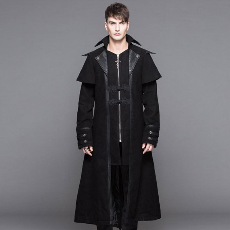 [해외]악마 패션 고딕 겨울 두꺼운 양털 남성 모직 펑크 영국 X- 긴 따뜻한 남성 혼합 코트 대안 귀족 Coustmes/Devil Fashion Gothic Winter Thick Fleece Men Wool Coats Punk England X-Long Warm M