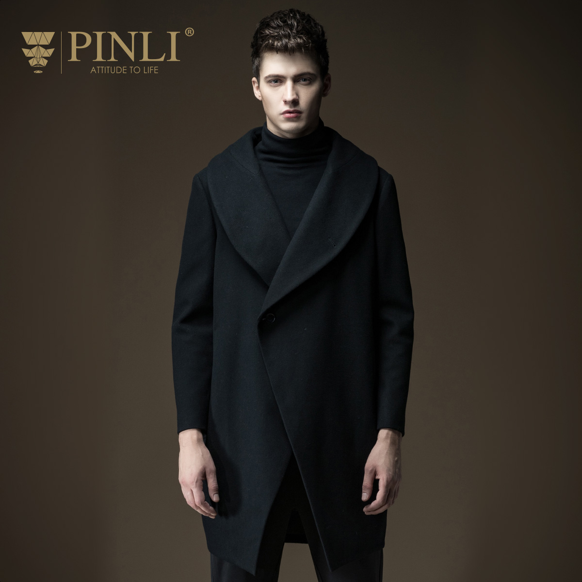 [해외]2017 직접 판매 Peacoat Coat Men 신착 표준품 Pinli 가을 남성 의류 중형 오버 코트 겉옷 B163602290/2017 Direct Selling Peacoat Coat Men New Arrival Standard Pinli Autumn Me
