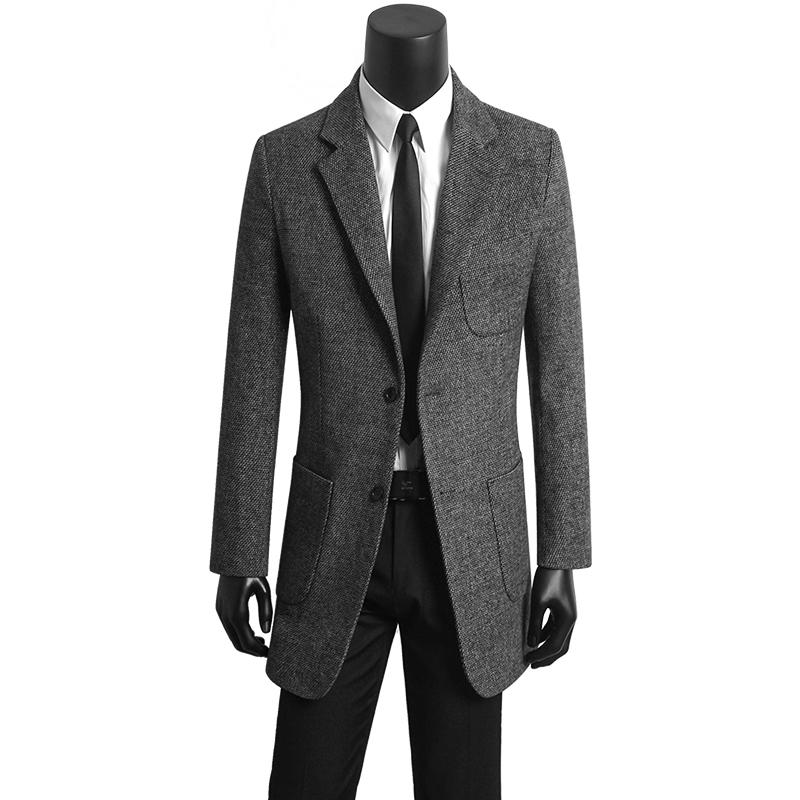 [해외]한국 남성 의류 캐주얼 정장 슬림 모직 코트 망 커피 자켓 코트 casaco masculino 긴 겨울 코트 남성 의류/Korean men &s clothing young casual suit slim woolen coats mens coffee jacket o