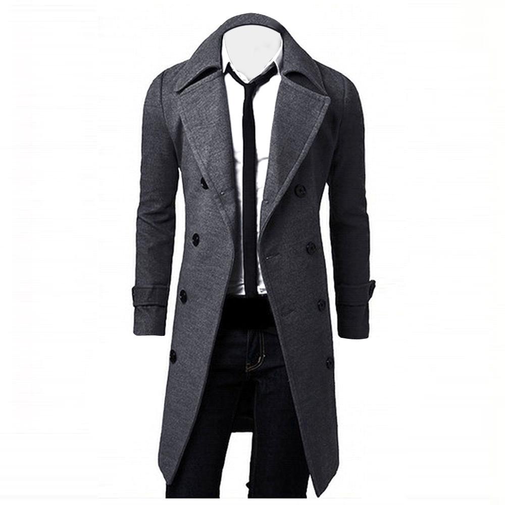 [해외]남성 겨울 자 켓 울 영국 스타일 남자 더 긴 섹션 모직 코트 남자 자 켓 Outerwear 따뜻한 단일 브레스트 모직 코트/Men Winter Jackets Wool British Style Men Longer Section Woolen Coats Men Ja
