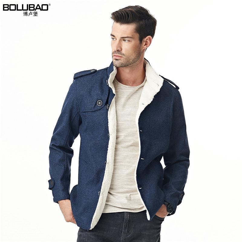 [해외]Bolubao 새로운 겨울 망 코트 여가 최신 유행 캐시미어 양털 안감 따뜻한 남자 캐주얼 자켓 오버 코트 양모 블렌드 남성 모직 코트/Bolubao New Winter Mens Coat Leisure Trendy Cashmere Fleece Lined Warm