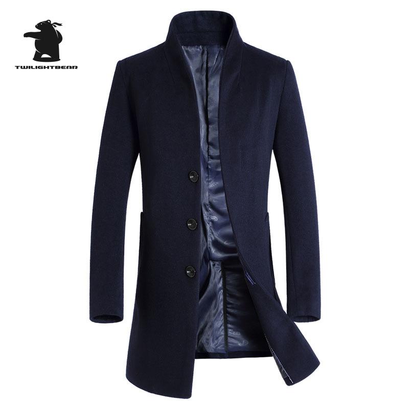 [해외]새로운 남성 & 모직 코트 겨울 디자이너 패션 플러스 사이즈 모직 비즈니스 파커 코트 남성 Casaco Masculino E33F1/New Men&s Wool Coat Winter Designer Fashion  Plus Size Wool Business