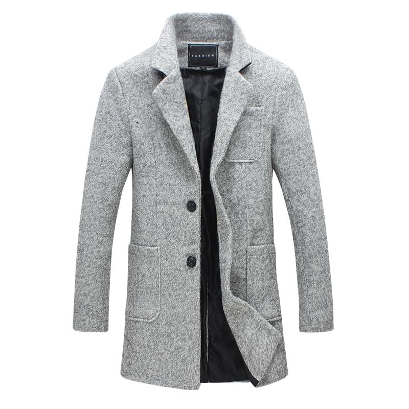 [해외]2017 남자 겨울 가을 재킷 긴 남자 & s 코트 슬림 슈트 칼라 긴 스타일 모직 코트 남성 재킷 캐주얼 양모 Peacoats 플러스 5XL/2017 men winter autumn jacket long men&s coat slim suit collar