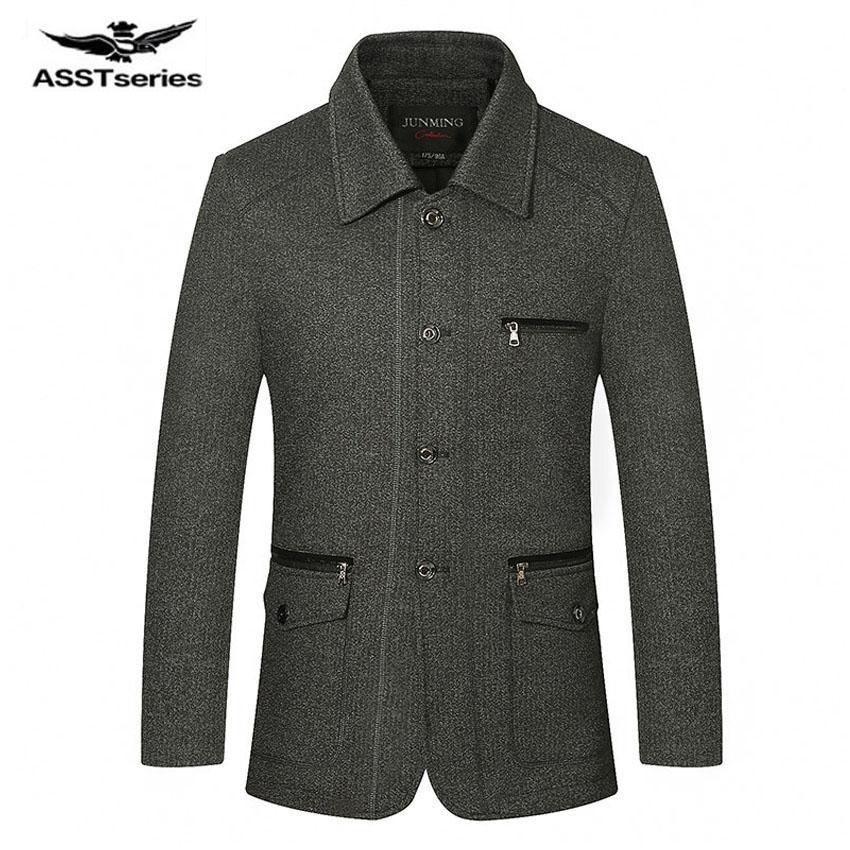 [해외]2017 브랜드 패션 자켓 남자 울 코트 공작 남자 긴 털실 겨울 남성 오버 코트 트렌치 디자인 의류 ??76cy을 섞는다/2017 Brand Fashion Jacket Men Wool Coat Peacoats Men Long Wool Blend Winter M