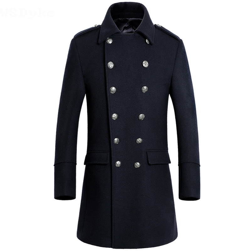 [해외]2017 년 겨울 신 긴 겉옷 두 번 브레스트 남자 양모 코트/2017 Winter New Long Mens Overcoat  Double Breasted Men Wool Coat