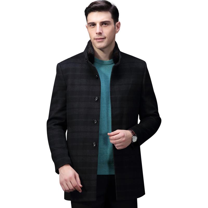 [해외]호도 겨울 코트 남성용 긴 코트 남성용 캐주얼 트렌치 코트 롱 울 코트 겨울용 DMGUD016B/Hodo Winter Coat Men Long Overcoat For Men&s Casual Trench Coat Long Wool Coat Winter DMGUD0