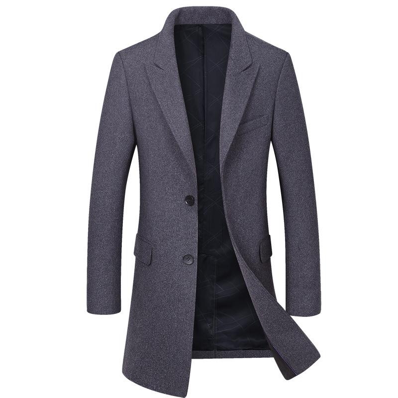 [해외]새로운 브랜드 남성 울 코트 패션 품질 울 혼합 긴 오버 코트 남성 겨울 완두콩 코트 핑/New Brand Men Wool Coat Fashion Quality Wool Blends Long Overcoat Male Winter Pea Coat ping