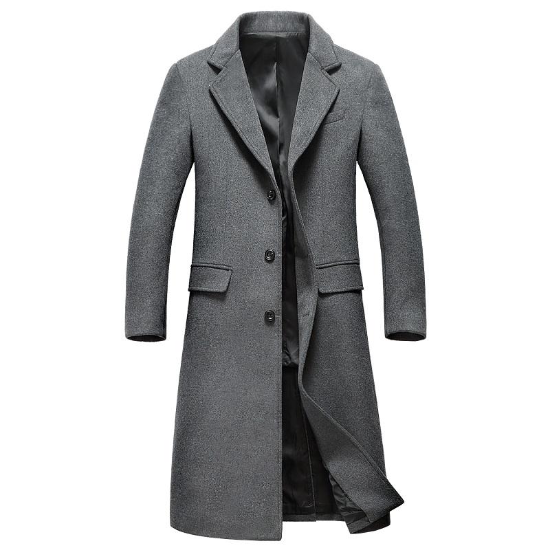 [해외]1851 년 신작 맨 코트 가을 & 겨울 의류 남성 모피 코트 남성용 모직 벤드 긴 코트/1851 New Fashion Man Coat Autumn &Winter Clothes Male Woolen Overcoat Men&s Wool Bends L