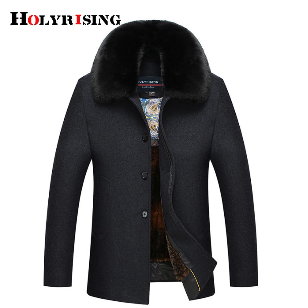 [해외]남자 모직 자켓 남자 캐주얼 따뜻한 눈 덮인 겨울 남자 & 모직 자켓 움직일 수있는 큰 가짜 모피 칼라 18215 Holyrising/Men Wool Jackets Men Casual Warm Snow Coats Winter Men&s Woolen Jac