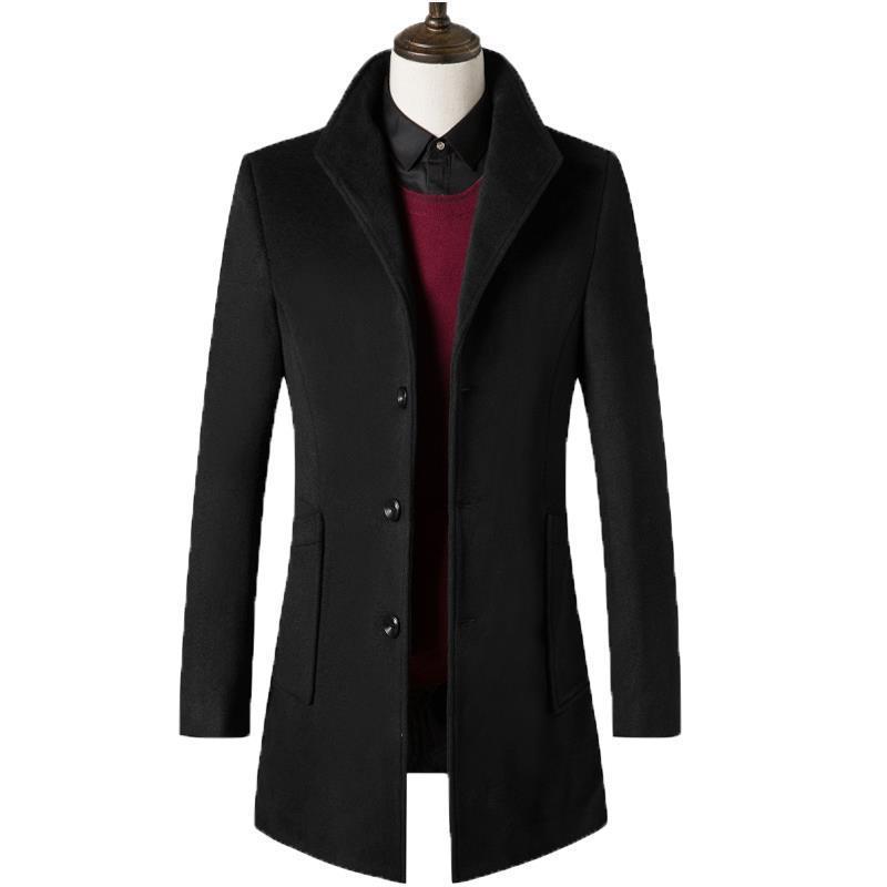 [해외]긴 섹션 모직 의류 2018 새로운 남성 & 양모 슬림 코트 남성 한국어 버전/Woolen clothing in long section Korean version of the 2018 new men&s wool Slim coat men