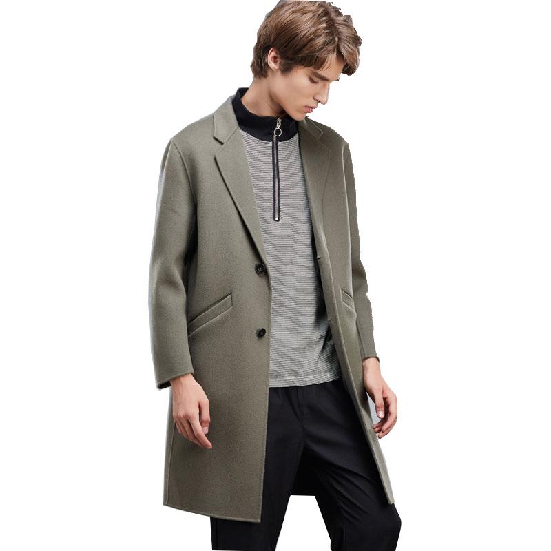 [해외]2017 남성용 모직 코트 자켓 가을 겨울 캐시미어 코트 남성 두꺼운 남성용 캐시미어 롱 코트/2017 Men&s Wool Coats Jackets Autumn Winter Cashmere Coat Men Thick Men &s Cashmere Long Coat