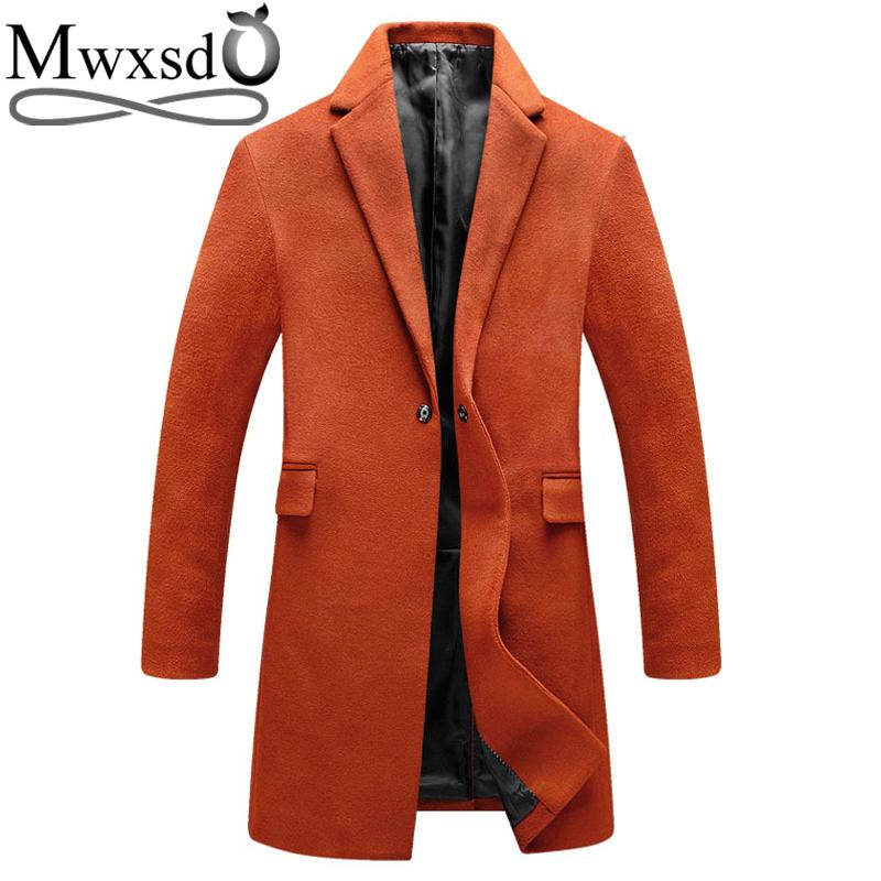 [해외]Mwxsd 상표 가을 겨울 남성 모직 혼합 재킷과 외투 남자 & s 온난 한 모직 중간 긴 범퍼 남자 캐시미어 외투/Mwxsd brand autumn winter Men wool blends Jacket and coat men&s warm woolen m