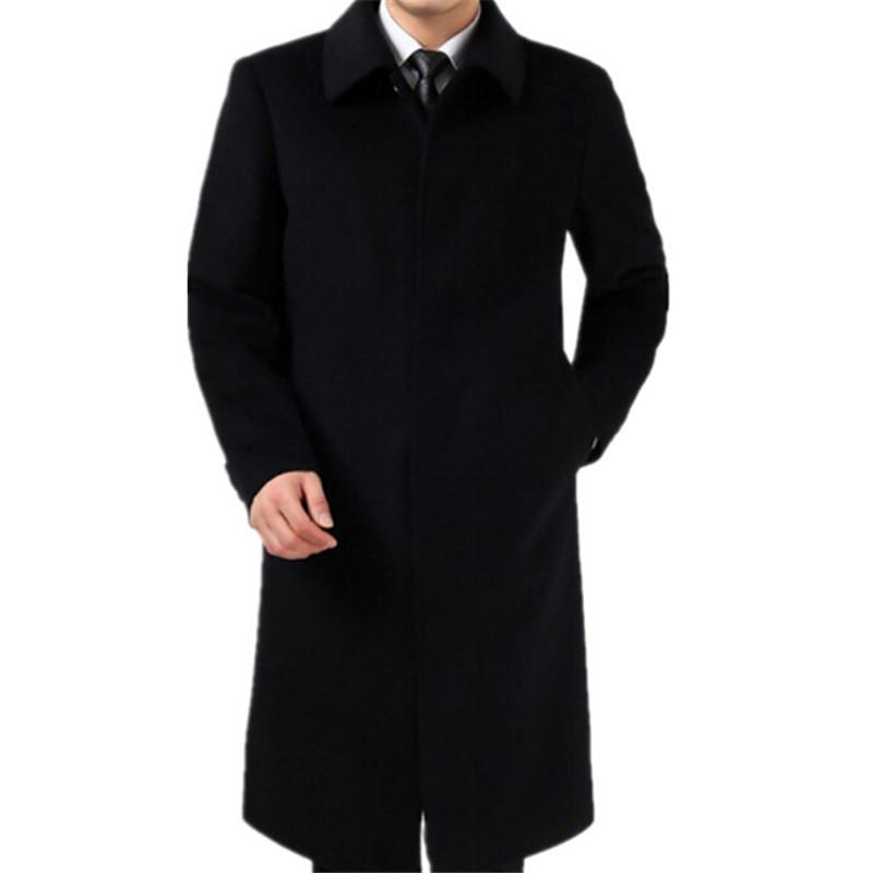 [해외]?65 % 모직 코트 남자 2019를새로운 유행 겨울 코트 긴 완두 재킷 남성 윙크 캐시미어 코트 남자 외투/ 65% woolen coat 2018 New Fashion Winter Coat For Men Long Pea jacket Male Windbreake