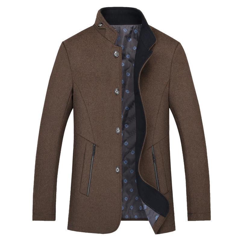 [해외]새로운 스프링 클립 면화 두꺼운 중년 남성 & 슬림 칼라 레저 코트 남성/A new spring clip cotton wool thick middle-aged men&s slim collar leisure coat male wholesale