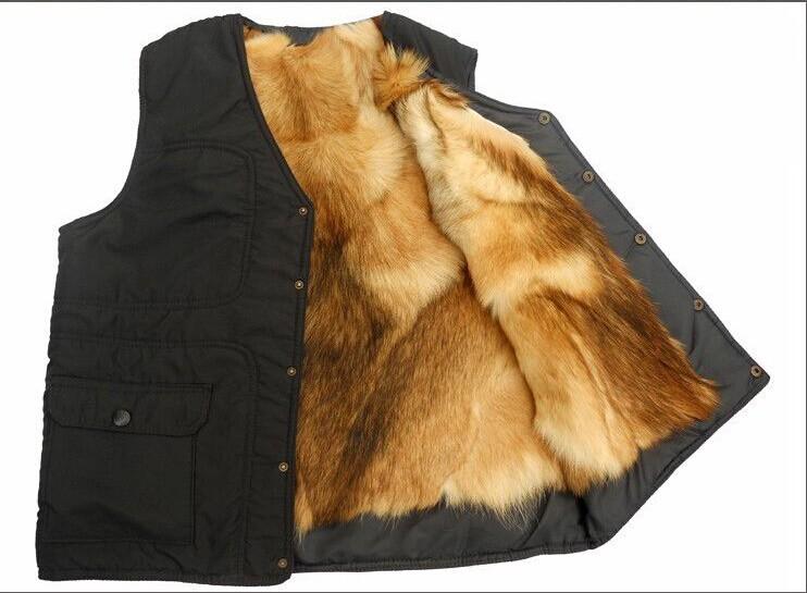 [해외]2014 가을과 겨울 야외 남자  가죽 quinquagenarian 남성 모피 한 조각 열 모피 조끼/2014 Autumn and winter outdoor Men genuine leather quinquagenarian male fur one piece the