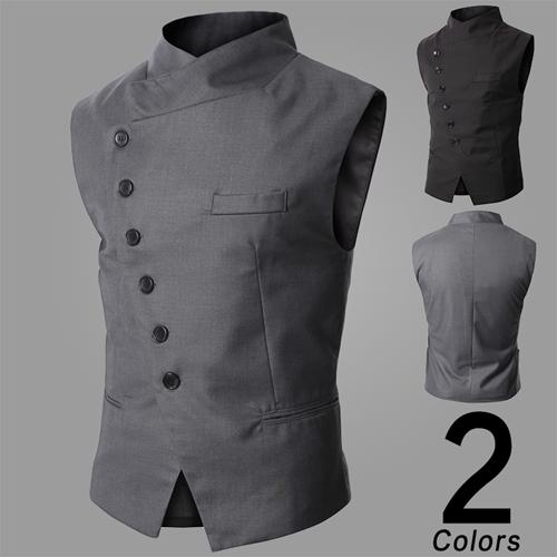 [해외]가을 조끼 남성 한국 조수 슬림 정장 조끼 남자 작은/The autumn vest male Korean tide slim suits vest men small