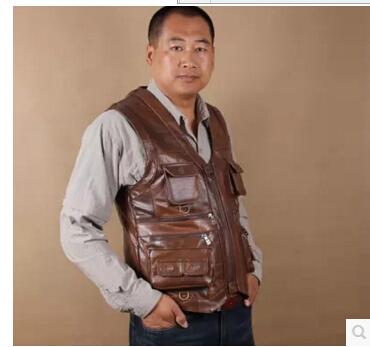 [해외]2016 가죽 조끼 머리 층 쇠가죽 채찍으로 치다 ma3 jia3 leisure outdoor 조끼 주머니/2016 leather vest Head layer cowhide ma3 jia3 leisure outdoor vest pocket