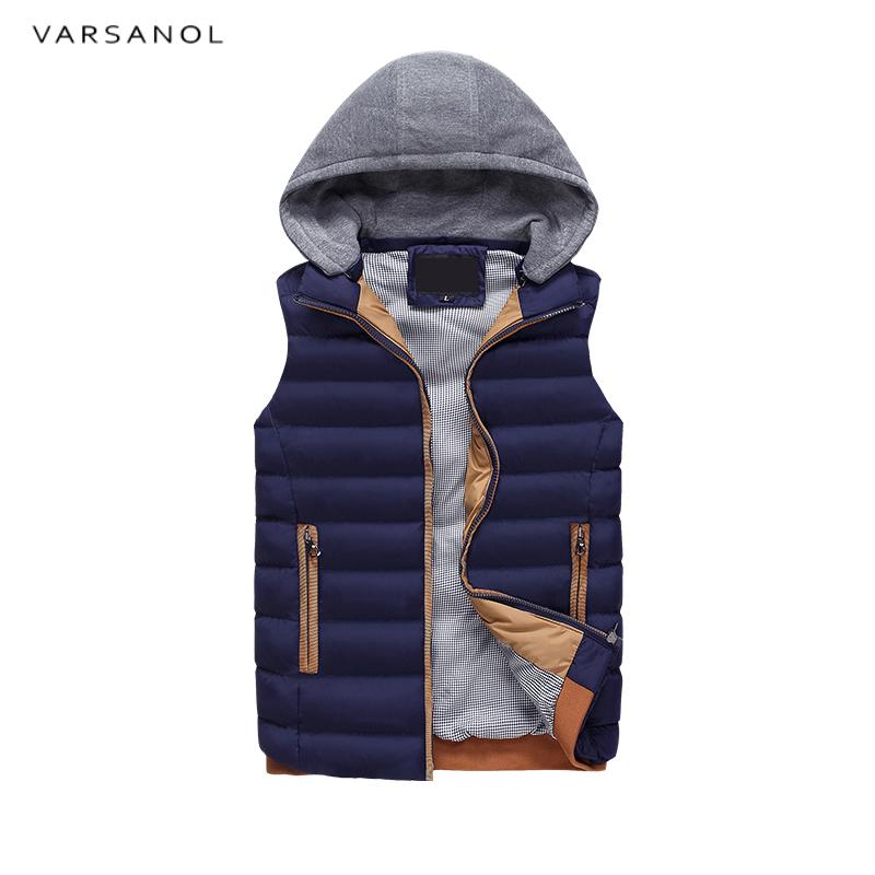 [해외]남성용 Varsanol 남성 조끼 자켓 후드 겨울 의류 조끼 코튼 아웃웨어 민Retail 거절 캐주얼상의 플러스 사이즈/Varsanol Mens Vest Jacket Hooded Winter Clothes Vests For Men Cotton Outwear Sl