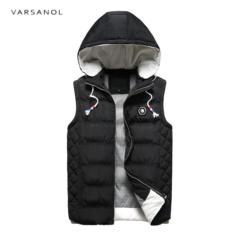 [해외]남성용 Varsanol Mens Vest Jacket Hoodies 겨울 의류 조끼 Cotton Outwear 후드 티 민Retail Toll-Down Collar Casual Tops2017/Varsanol Mens Vest Jacket Hoodies Wint