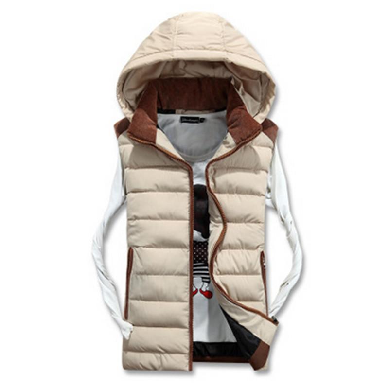 [해외]여자 남자 조끼 Feminino Autume 겨울 짧은 조끼 두건이 된 코튼 패딩 된 여자 애호가를조끼 코트 지퍼 포켓 민Retail Femal/Women Men Vest  Feminino Autume Winter Short Vest Hooded Cotton P