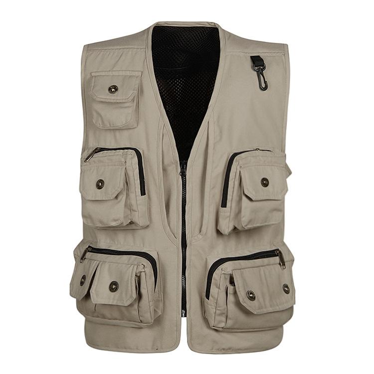 [해외]전술 조끼 군복 패션 감독 사진 어부 브랜드 캐주얼 조끼 통기성 멀티 포켓 스타일 조끼/Tactical Vest Military Clothes Fashion Director Photography Fisherman Brand Casual Vest Breathabl