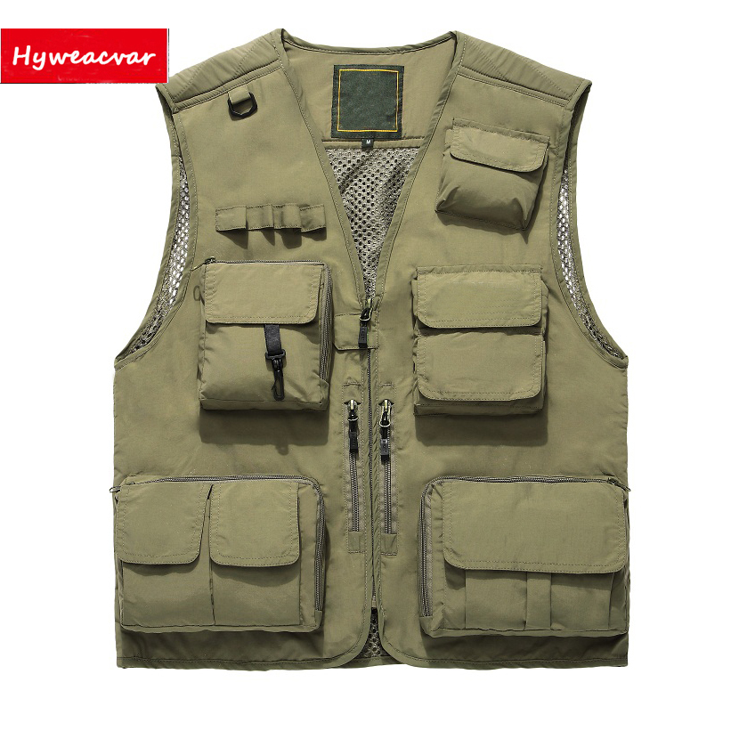 [해외]Hyweacvar 남자 & 다중 포켓 전기 작업 조끼 양복 조끼 통기성 분리형 남성 & 조끼/Hyweacvar Men&s Multi Pocket Electrician Work Vest Waistcoat Breathable Detachable Men