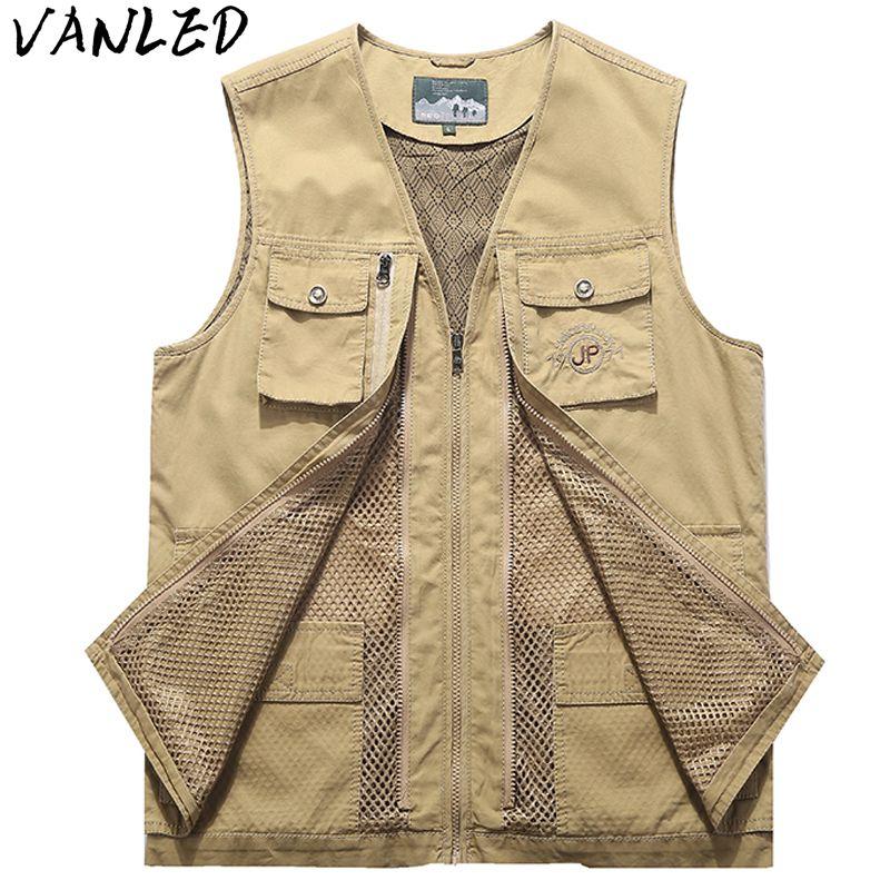 [해외]2018 새로운 승진 Chaleco Hombre 전술 조끼 조끼 남자 & s 다 포켓 여가 재킷 큰 사진 얇은 단면도 8xl/2018 New Promotion Chaleco Hombre Tactical Vest Vest Men&s Multi-pocket