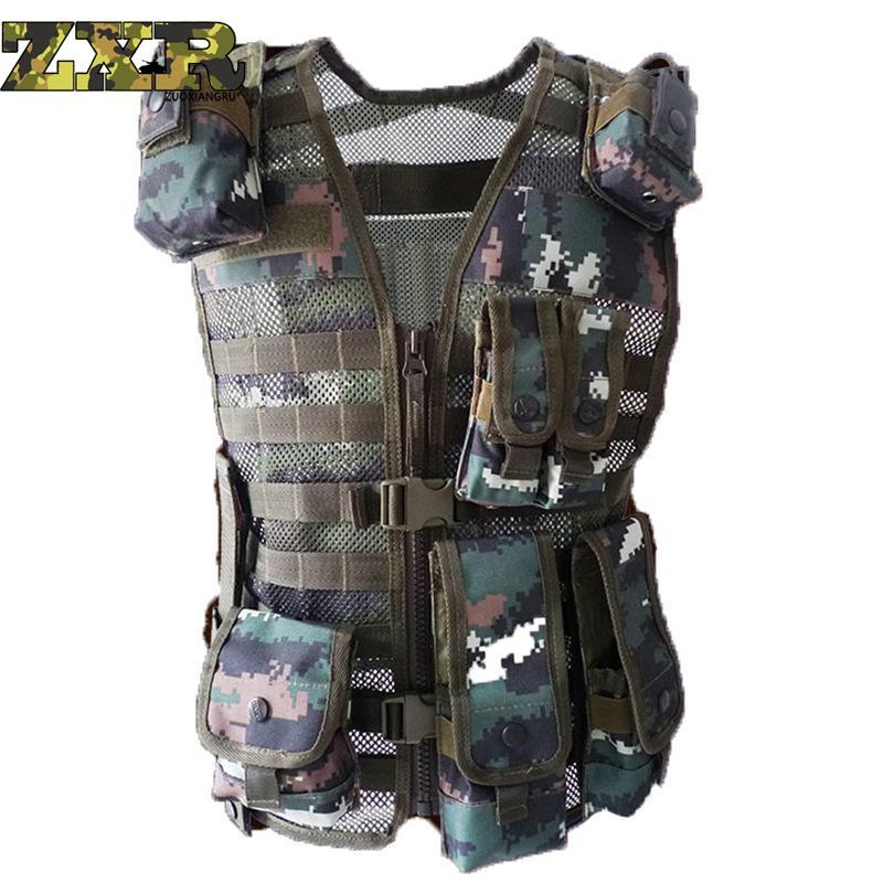 [해외]남성복 위장 전술 CS 파일 활동 남성 위장 군대 VestMulti-pocket One Size Vest Regular Vest Men/Men&s Clothing tactical CS Filed Activities Men Camouflage army VestMu