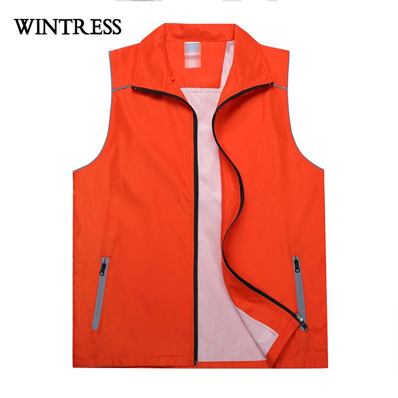 [해외]WINTRESS 여름 메쉬 남성 여성 조끼 코트 순수한 색상 넓은 waisted 슈퍼마켓 자원 봉사 조끼 사용자 정의 패턴 로고/WINTRESS Summer Mesh Men Women Vest Coat Pure Color Wide-waisted Supermark