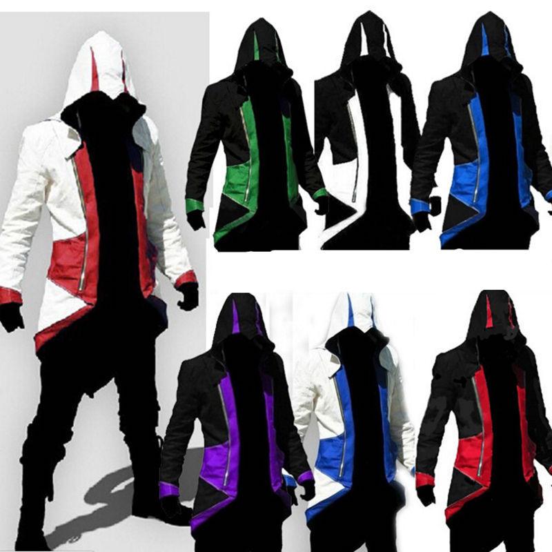 [해외]세련된 슬림 피트 Creed Hoodies 자객 코스프레 의상 Conner Kenway 까마귀 남성 자켓 및 코트 Overcoat Hoody Jacket/Stylish Slim fit Creed Hoodies Assassins Cosplay Costume Con