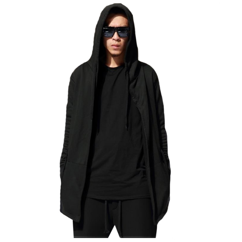[해외]2017 남자 후드 자켓 블랙 가운 힙합 맨틀 까마귀 스�� 셔츠 망토 코트 아웃웨어 맨 패션 크기 M-XXXL/2017 Men Hooded Jacket Black Gown Hip Hop Mantle Hoodie Sweatshirts Cloak Coats Outw