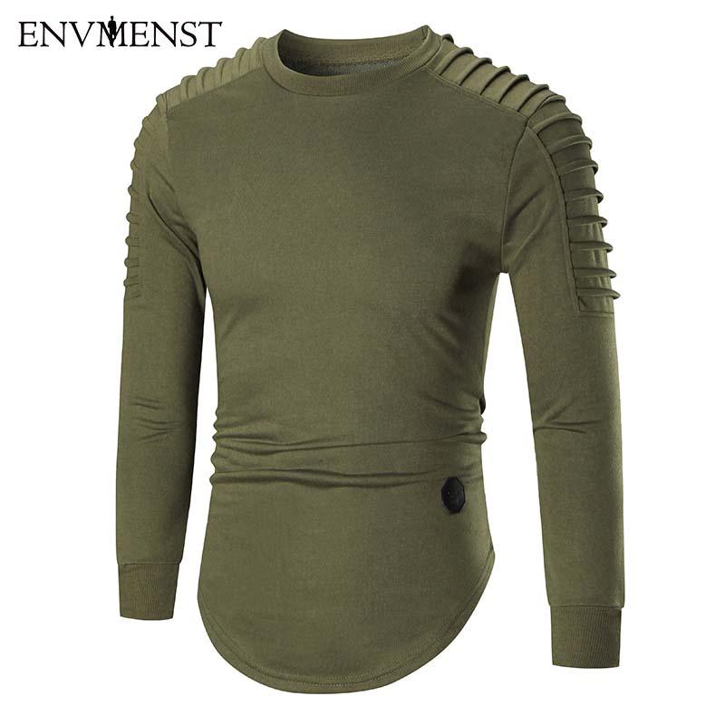 [해외]Envmenst 2017 새로운 스타일 캐주얼 까마귀 스웨터 남자 이 잡힌 어깨 끈이 까마귀 까마귀 남자 까마귀 스웨터 남자/Envmenst 2017 New Style Casual Hoodie Sweatshirt Men Wrinkled Shoulders Cott