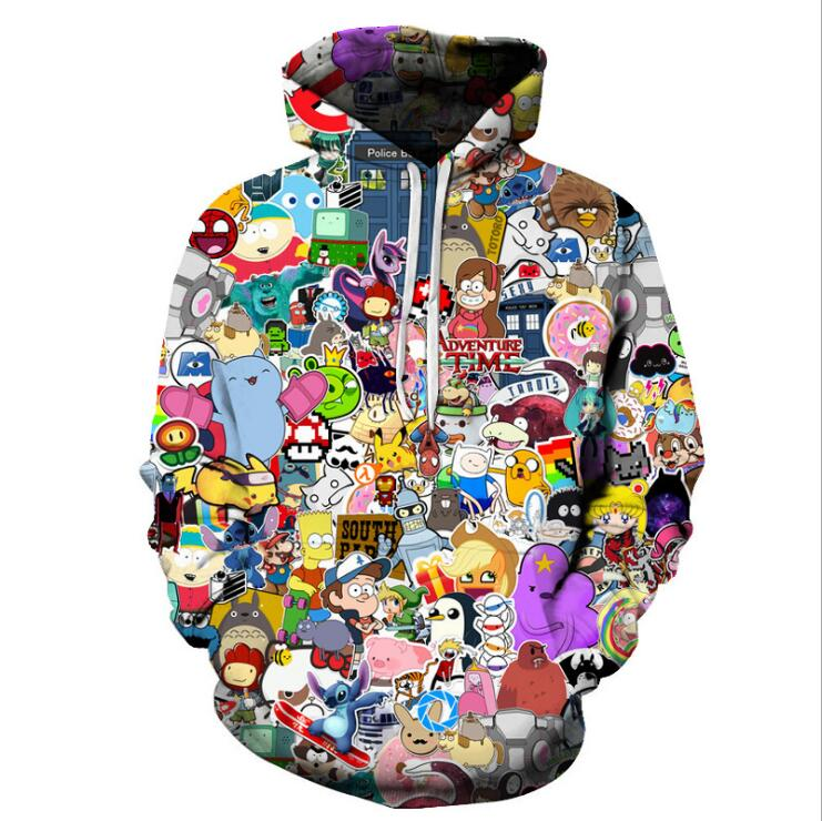 [해외]Anime Hoodies 남자 / 여자 3d 스웨터 모자 Hoody UniAnime 만화 Hooded Hoodeis 패션 브랜드 후드/Anime Hoodies Men/Women 3d SweatshirtsHat Hoody UniAnime Cartoon Hooded