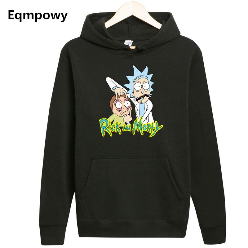 [해외]패션 새 도착 릭 Morty 남자 Hoodies 세계 평화의 중 Folk Print Homme Rick And Morty Hooded Sweatshirt/Fashion New Arrival Rick Morty Men Hoodies Anime Peace Among