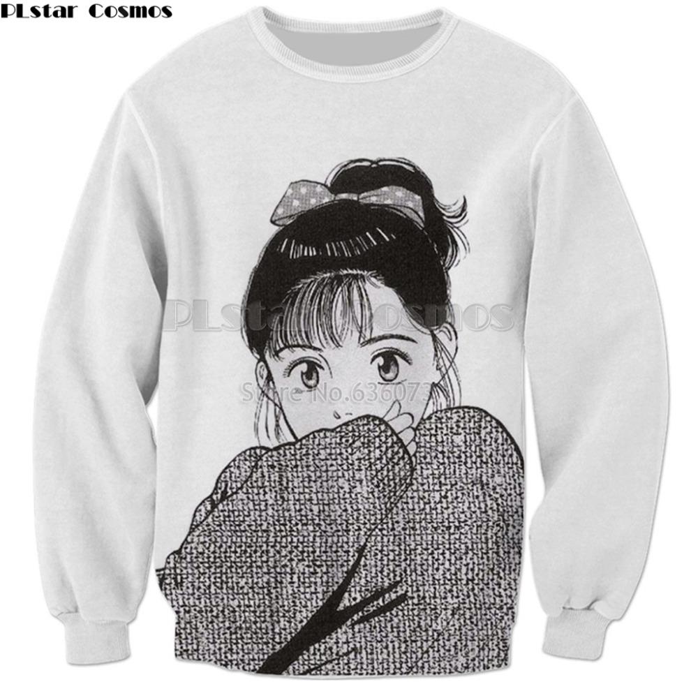 [해외]PLstar Cosmos 2018 신작 하라주쿠 Anime 3 차원 운동복 남성 여성 후드 Anime girl print casuals Tracksuits hoodies/PLstar Cosmos Drop shipping 2018 New Harajuku Anime