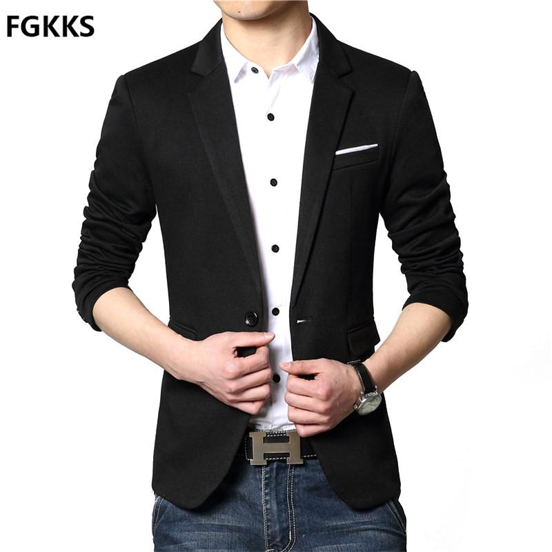 [해외]2017 신품 도착 블레이저 망 캐주얼 자켓 싱글 버튼 코튼 남성 블레이저 자켓 남성 클래식 남성 슈트 자켓 솔리드 컬러 코트/2017 New Arrival Blazer Mens Casual Jacket Single Button Cotton Men Blazer