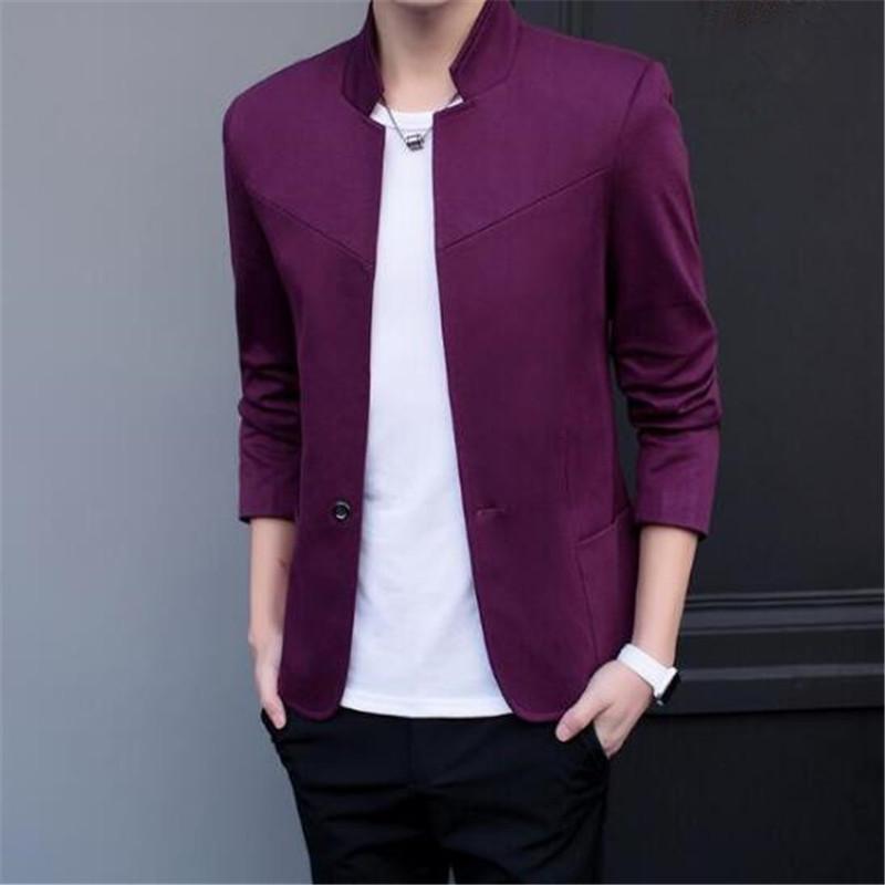 [해외]2017 새로운 봄, 가을 얇은 캐주얼 남자 블레이저면 슬림  스타일의 소송 블레이져 Masculino 남성 자켓 남자 사이즈 M-5XL/2017 New Spring and Autumn thin Casual Men Blazer Cotton Slim Chinese