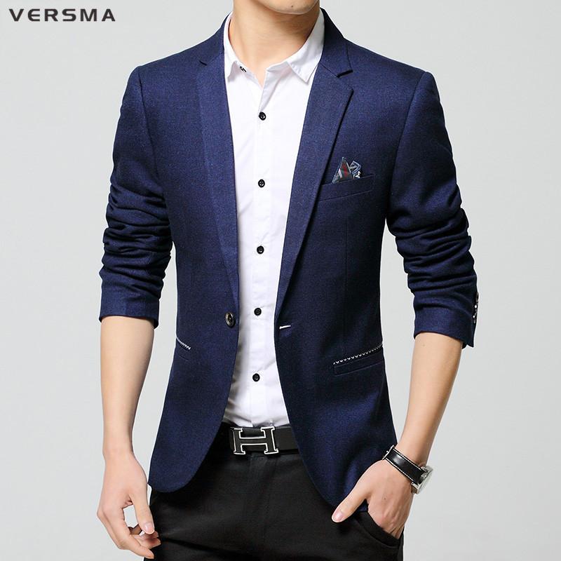 [해외]VERSMA 2017 남성 캐주얼 슬림 피트 원 버튼 정장 블레이저 탑 남성 턱시도 슬림 피트 남성 블레이저 정장 재킷 디자인 세련된 블레이 저/VERSMA 2017 Men&s Casual Slim Fit One Button Suit Blazer Tops Men